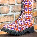 Glany 10 dziurek flaga Wielkiej Brytanii