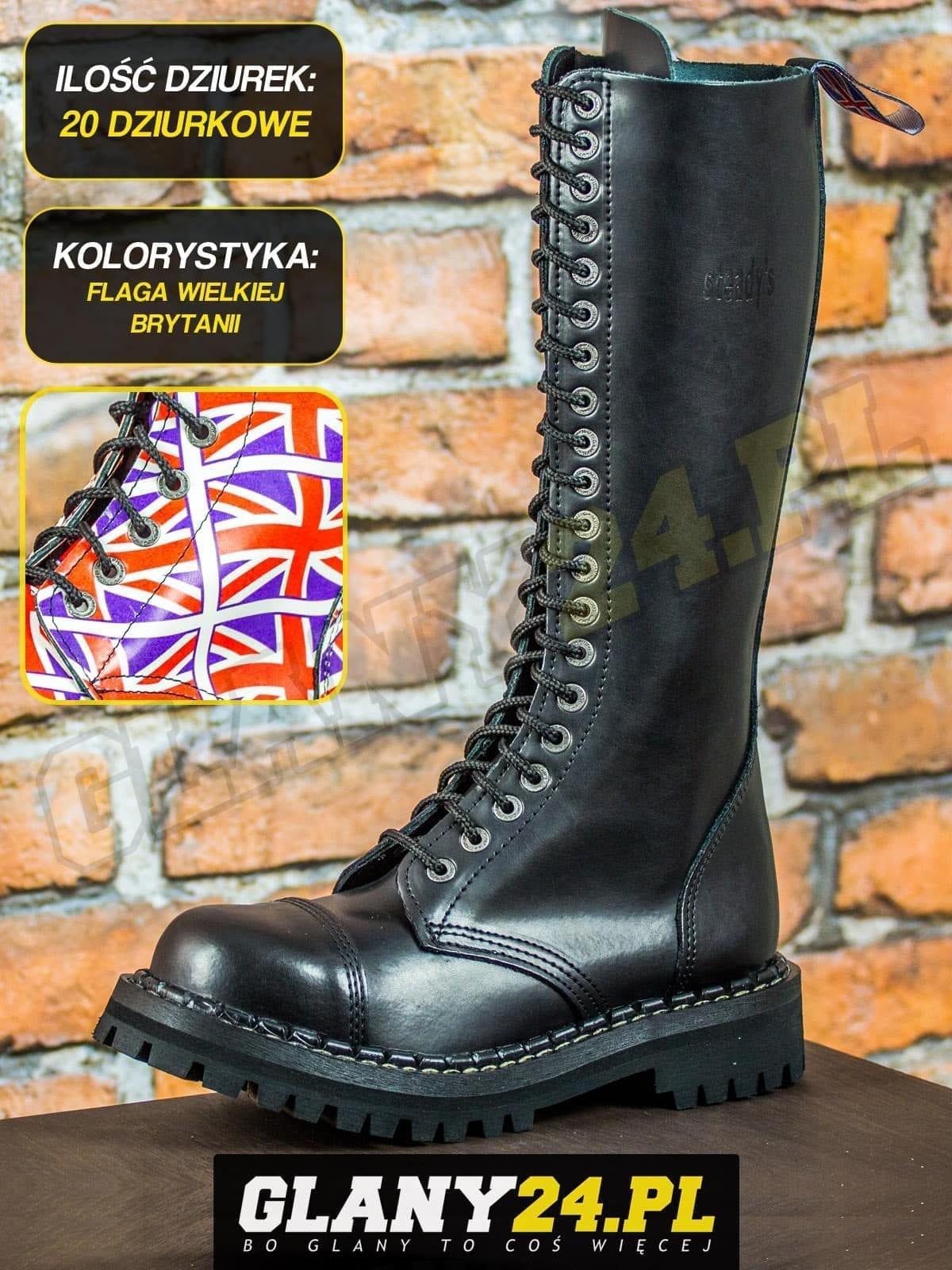 Glany 20 dziurek flaga Wielkiej Brytanii