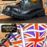 Glany 3 dziurki flaga Wielkiej Brytanii