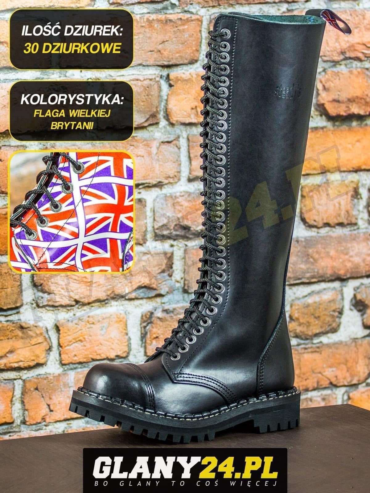 Glany 30 dziurek flaga Wielkiej Brytanii