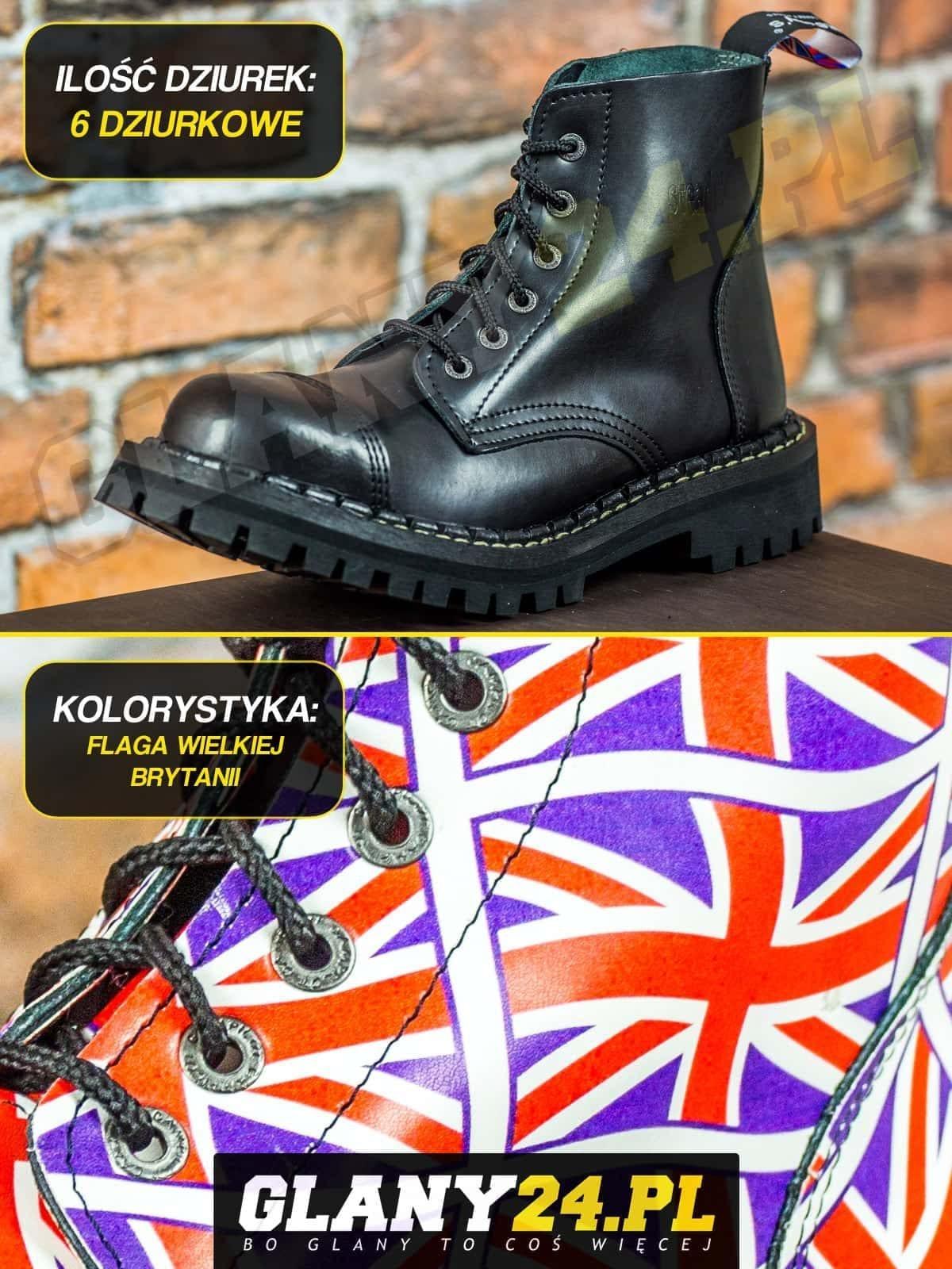 Glany 6 dziurek flaga Wielkiej Brytanii
