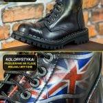 Glany 6 dziurek przecierane na flagę Wielkiej Brytanii