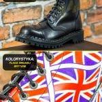 Glany 8 dziurek flaga Wielkiej Brytanii