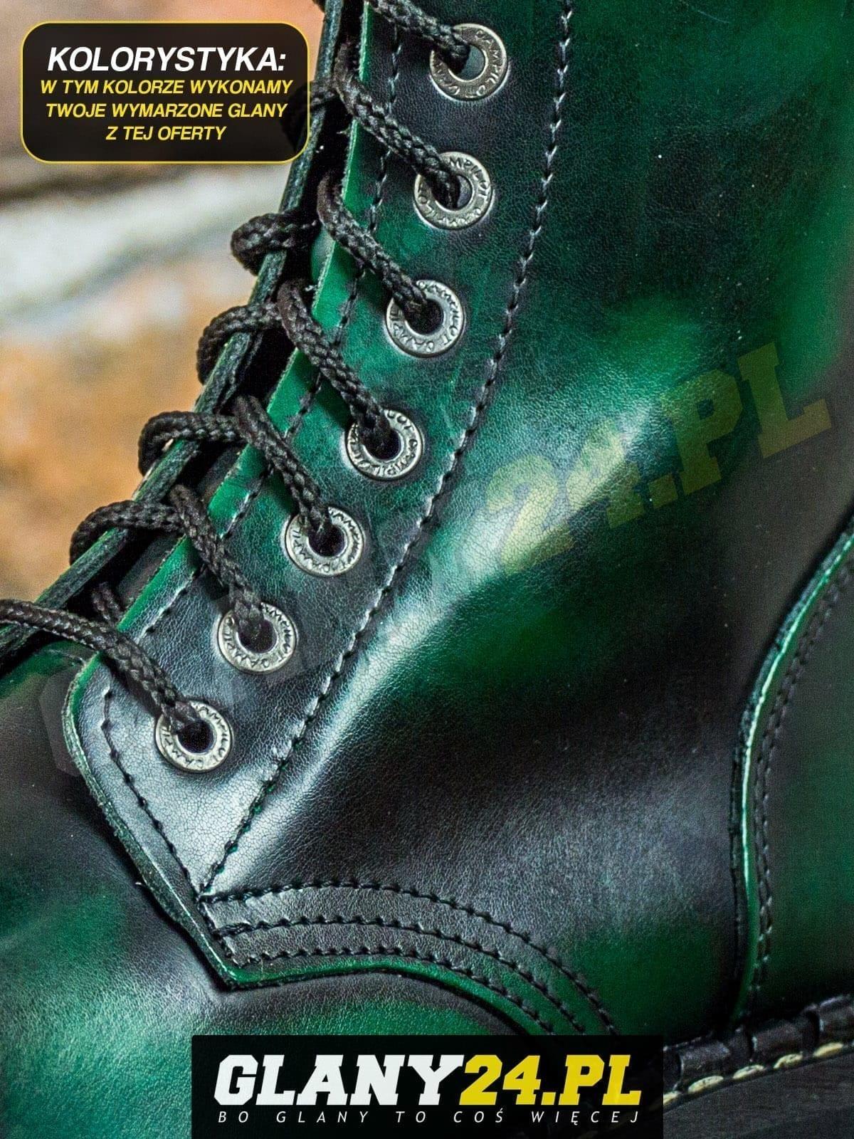 Glany przecierane na ciemny zielony