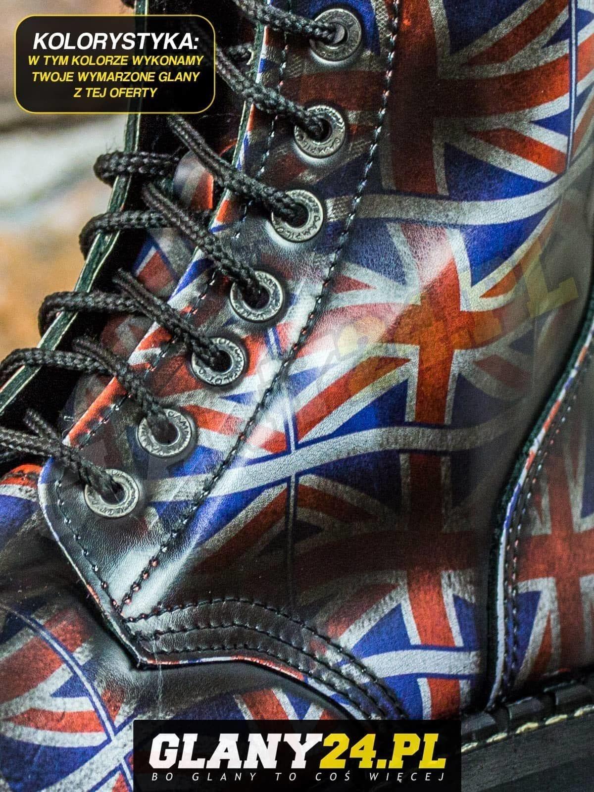 Glany przecierane na flagę Wielkiej Brytanii