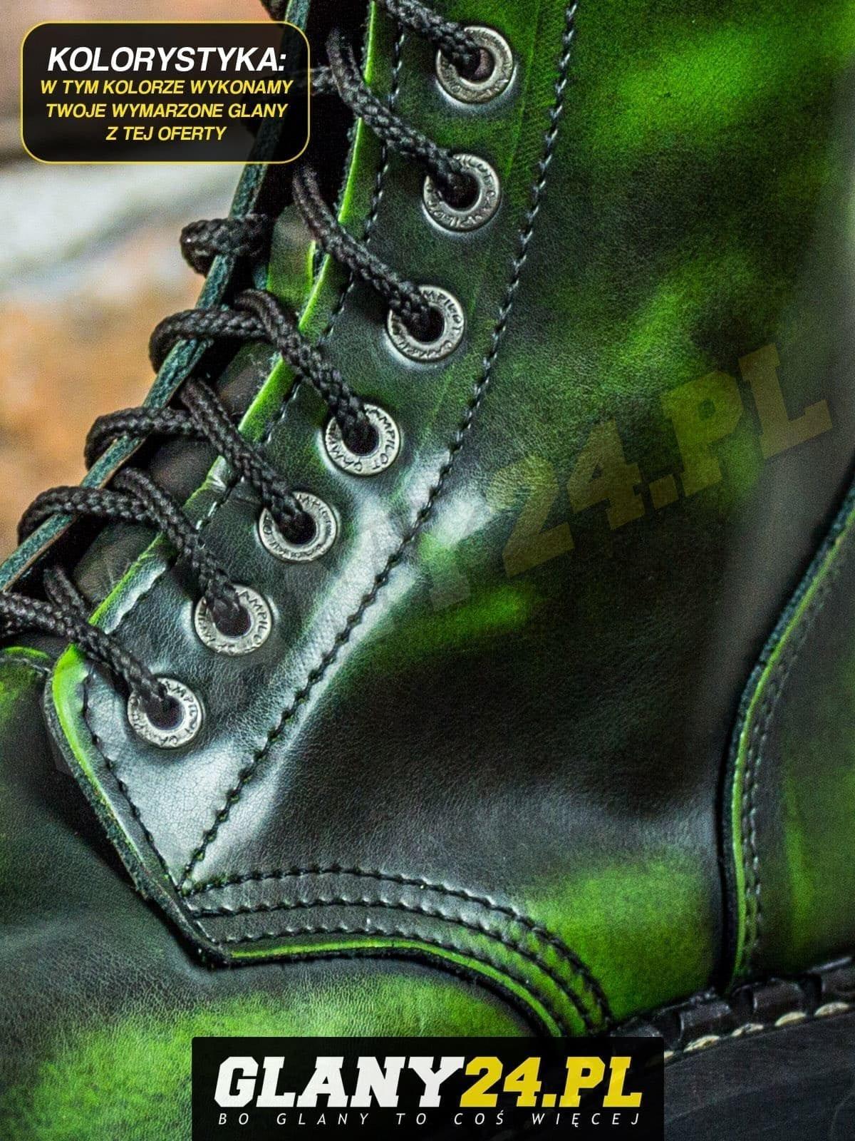 Glany przecierane na jasny zielony